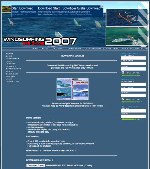 Windsurfing 2007 Website